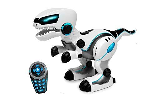 Juguetecnic Robot Dinosaurio Teledirigido Rocco | Canta y Baila! Robot Juguete para Niños Programable con Mando Distancia Radiocontrol | Juguete Robotica Mascota Interactiva