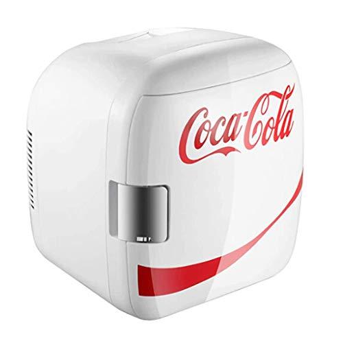 Bdesign Coca-Cola Mini refrigerador pequeño Estudiantes del Dormitorio de Oficina Oficina Leche Materna Doble Uso del Coche pequeño refrigerador 9L Blanca