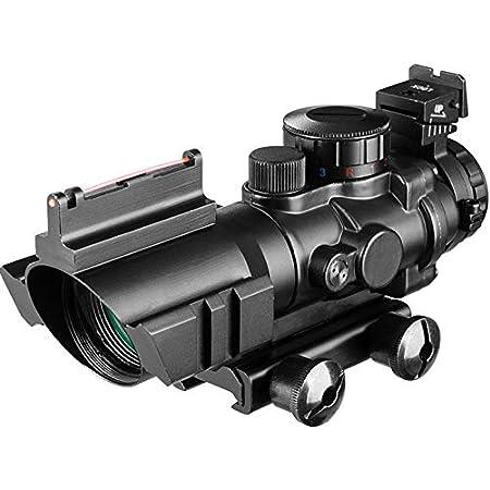 Acexier 4x32 Acog Zielfernrohr 20mm Schwalbenschwanz Reflex Optik Zielfernrohr Taktisches Visier Jagdgewehr Gewehr Airsoft Sniper Magnifier Air Gun Sport Freizeit