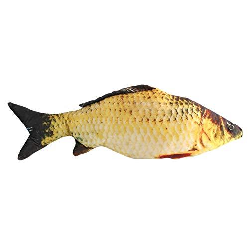 Gonnely Cojín con Forma de pez, cojín de simulación con Forma de pez de Carpa 3D, cojín, Regalo para niños, sofá de Juguete, decoración del hogar(80cm)