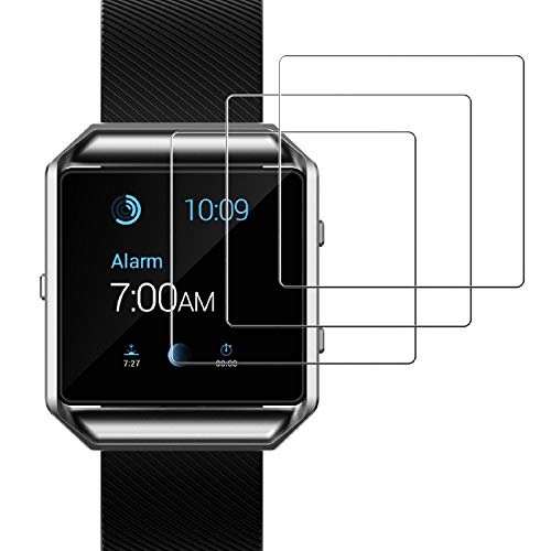 JETech Screen Protector for Fitbit Blaze Smart Watch Tempered Glass Film, 3-Pack