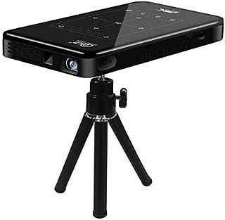 جهاز بروجيكتور ذكي ميني محمول يعمل باللمس P09 1500 لومن 4000 مللي امبير في الساعة مع مدخل USB HDMI ومدخل حماية رقمية SD