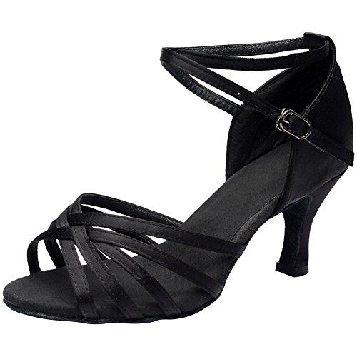 Wealsex Mujer Zapatos de Baile Latino Fondo Suave Zapatos de Baile,Baile de Salón Hebilla Sandalias