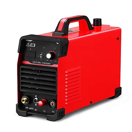 Plasma Cutter Pilot Arc CUT50 Dual Voltage 110V 220V 50A Cutting Non Touch Machine Portable Plasma Cutter (CUT50L)