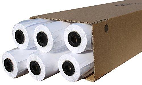 CABRO 513914-50 Qualitäts-Plotterpapier, 6 Rollen, 90 g, 914mm x 50m für brillante Farben, exakte Linien