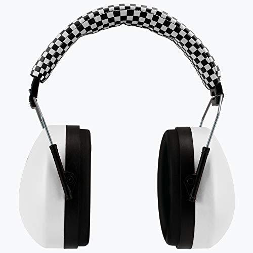 Alecto Kinder Kapselgehörschutzer Faltbar | Ohrenschützer| Gehörschutz und Lärmschutz für Baby ab 18 Monate und Kinder bis 12 Jahre | Weiß | BV-71WT