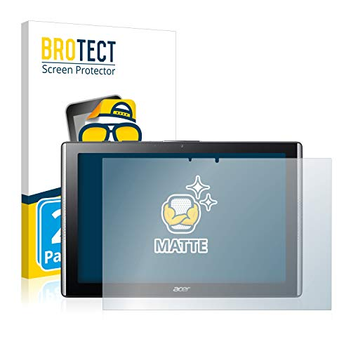 BROTECT 2X Entspiegelungs-Schutzfolie kompatibel mit Acer Iconia One 10 B3-A40 Bildschirmschutz-Folie Matt, Anti-Reflex, Anti-Fingerprint