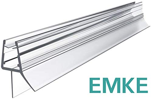 EMKE Ersatzdichtung Wasserabweiser Duschdichtung Schwallschutz Duschkabine Bad 4-6mm Glas 600mm