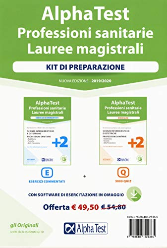 Alpha Test. Professioni sanitarie. Lauree magistrali. Kit: Esercizi commentati-3000 quiz. Nuova ediz. Con software di simulazione