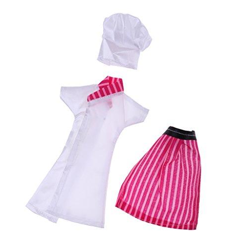 F Fityle Accesorio de Disfraz de Cocinero para Ropa de Muñeca para Casa de Muñecas Blythe BJD 1/6