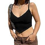 Sexy V-Neck Lace Vest Nero M