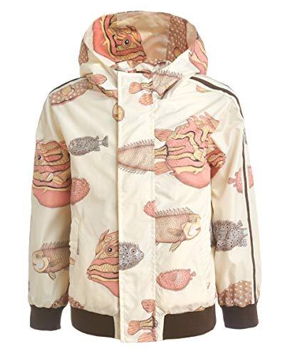 GULLIVER Jungen Jacke für Jungs Übergangsjacke Herbst Jacke Beige Orange mit Kapuze Wasserdicht 2 7 Jahre 98-128 cm