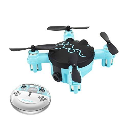 Drone FPV Con Cámaras HD, 2,4G 6 Axis Gyro Mini Quadcopter No WiFi Drone Para Niños, Vídeo En Vivo Gran Angular Ajustable, Retención Altitud, Modo Sin Cabeza, Largo Alcance Control, Carga USB (Blue)