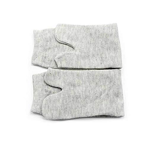 GOOTRADES Unisex 2 Par de Tabi Calcetines Elásticos Algodón Japoneses de Dedos de Pies 2 – Toe Calcetín para Cosplay Flip Flop (Gris)