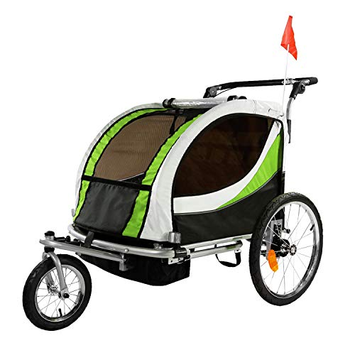 Clevr 2-in-1 2-Seater Baby Stroller Jogger Trailer