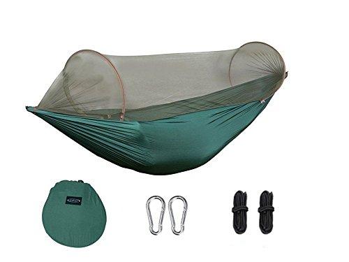 AlienTech Outdoor Parachute Hangmat Draagbare Camping Hangmat met Muggennetten Eenpersoons Hangmat Swing