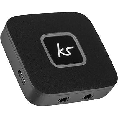 KitSound Bluetooth Wireless Audio Splitter for Wireless and Wired Headphones, Bluetooth Headphone Splitter - Black by KitSound