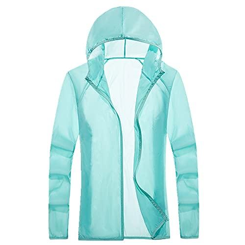 Protector solar, cortavientos con capucha para hombre y mujer, verde, XXXL