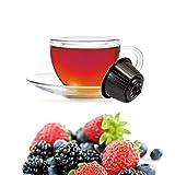 Kickkick Tisana ai Frutti di Bosco Compatibili Nescafe Dolce Gusto - Infuso in Cialde - 32 Capsule