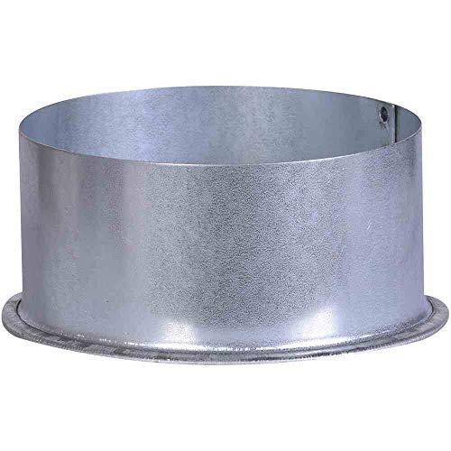 FIREFIX A110/K FAL Ofenrohrkapsel/Wandfutterdeckel, ø 110 mm - für 0,6 mm Starke Ofenrohre, Silber