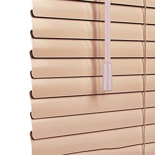 CORTINA Persianas venecianas de Metal de Aluminio, Listones for Oficina doméstica for sujeción, privacidad, protección contra la luz y el deslumbramiento - 60/75/90/105/120/135 cm de Ancho