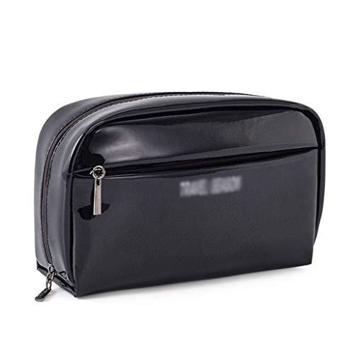 T-T-opbergbox, waterdichte cosmeticatasje met drie vakken, kleine draagbare handtas, multifunctionele reisverzorgingsproducten met ritssluiting