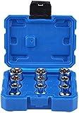 9 piezas 1/2 hembra Torx E-TRX Star Socket Set E-Type Torx Star Bit Socket Set E10-E24 Kit de herramientas de reparación