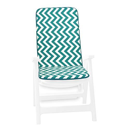 Zig Zag - Cojín suave para silla de jardín, interior y exterior, modelo Ibiza 11D, verde