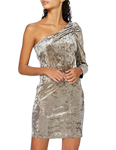 Amazon-Marke: find. Damen cocktailkleid One Shoulder Dress, Gold (Gold), 38, Label: M