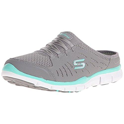 Skechers Sport Women's No Limits Slip-On Mule Sneaker, Grey Mint, 8.5 M US