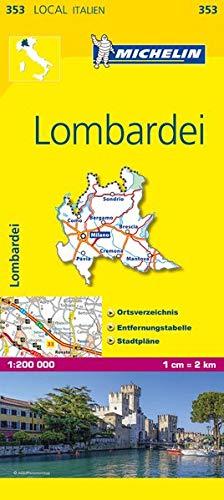 Michelin Lombardei: Straßen- und Tourismuskarte 1:200.000 (MICHELIN Localkarten)