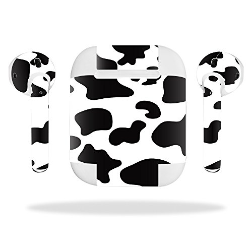 Best Deals! MightySkins Skin Compatible with Apple AirPods - Cow Print   Protective, Durable, and Un...