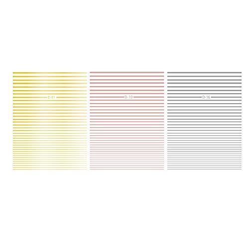 3pcs 3d Nail Sticker Curve Strip Lignes Adhésives Striping Stickers Stickers Art Aléatoire