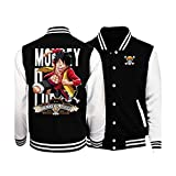 Black jacket Japan Anime One Piece Monkey D. Luffy Thickens baseball jacket L womens plus size jackets retro