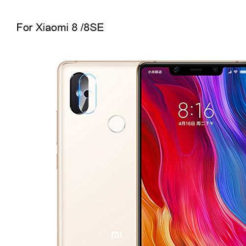 CTGVH Protector de Lente de cámara para Xiaomi Mi8/Mi8 SE, Vidrio Templado 2.5D HD de Alta definición, Protector de Pantalla de Cristal Transparente, 1 Unidad