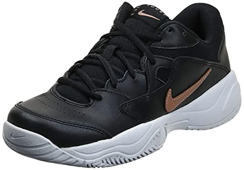 Nike NikeCourt Lite 2, Scarpe da Tennis Donna, Black/Mtlc Red Bronze-White, 39 EU