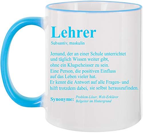 EZYshirt® Geschenk für Lehrer & Lehrerin definition Kaffeetasse Kaffeebecher
