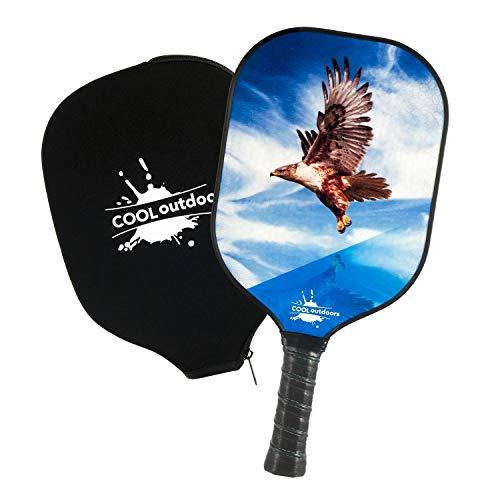 Cooloutdoors Pickleball Paddle, Graphite Rackets & Polymer Core, Honeycomb Core Inside, Slim Edge Guard, Pickleball Rackets Lightweight for Men Women Kids Indoor Outdoor