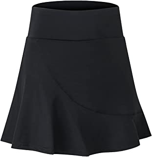 QitunC Women's Athletic Tennis Golf Skirts Pleated Workout Sports Mini Skater Skirts with Shorts Pockets