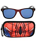 Spiderman Kids Sunglasses with Kids Glasses Case, Protective Toddler Sunglasses (Red)