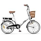 Nilox 30NXEB140V003V2 - Bicicleta eléctrica E Bike 36V 6AH 20X1.75P - J1, Motor 36 V 250 W, batería Recargable de Litio 36 V 6 Ah, Carga Completa 3 h, chasis Acero, Velocidad máxima 25 km/h