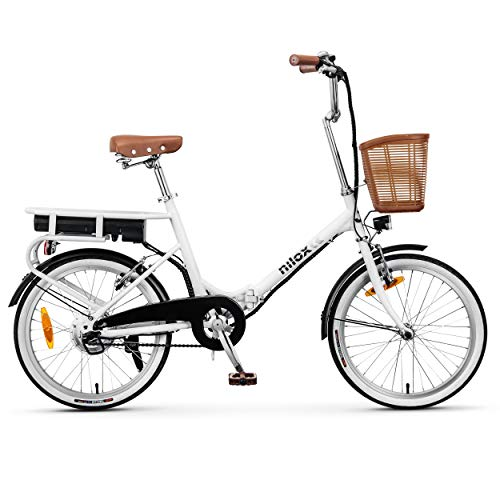 Nilox eBike J1, Unisex Adulto, White, Medium