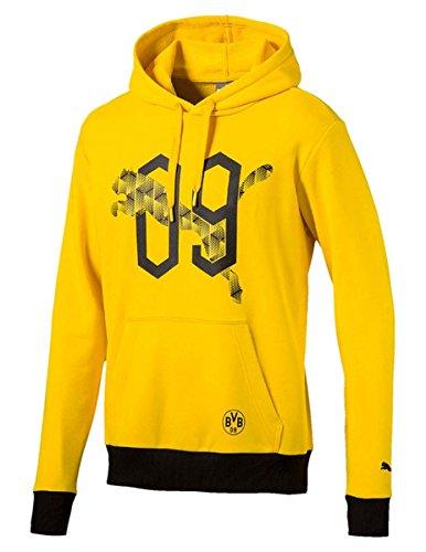 PUMA Herren BVB Fan Hoody Hoodie, Cyber Yellow-09, L