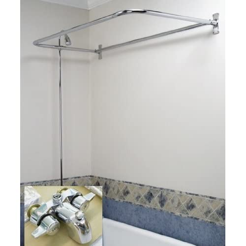 Clawfoot Tub Shower Faucet D Style Premium Combo Set