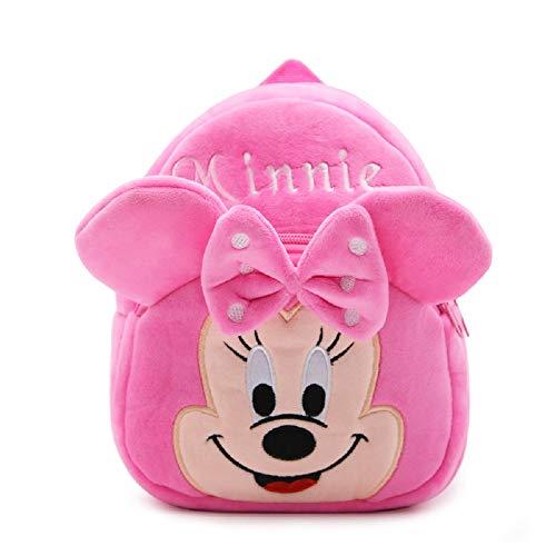 CHDJ Niedlicher Mini-Plüsch-Rucksack für Kleinkinder, für Mädchen und Jungen, Alter 1–3 Jahre, Rosa Minnie (Pink) - shoulder-handbags