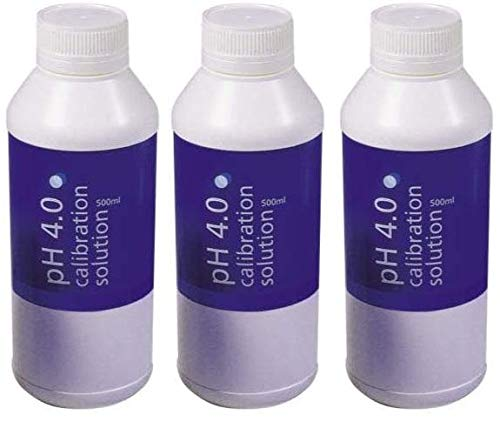 Read About Bluelab PH 4.0 Calibration Solution, 500 milliliters (Тhree Pаck)