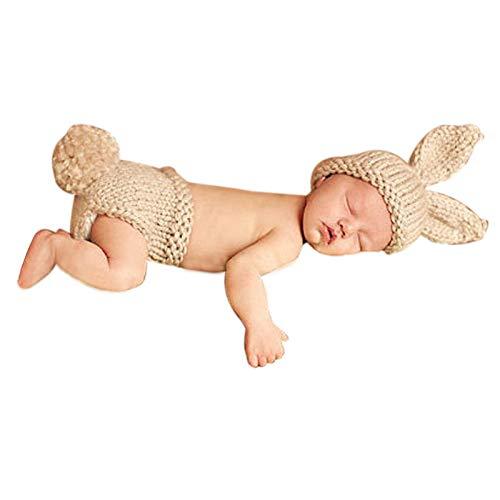 Vovotrade Bambino Appena Nato Crochet Cappello di Lana Fotografia Costume Prop Outfit Set