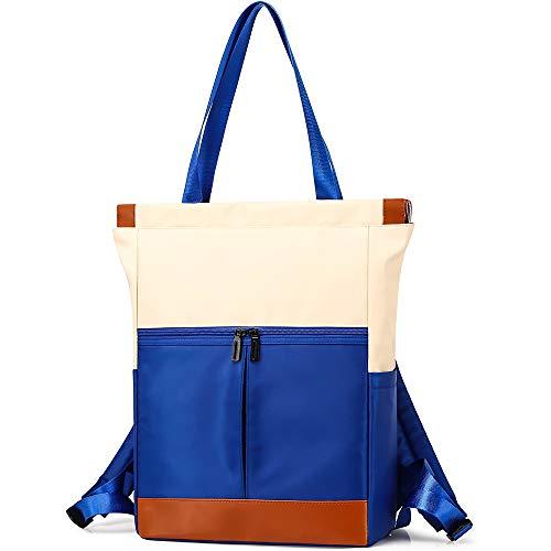 Everfun - Mochila unisex grande multifunción, convertible de hombro, impermeable, de nailon, mochila casual para viajeros Azul azul large