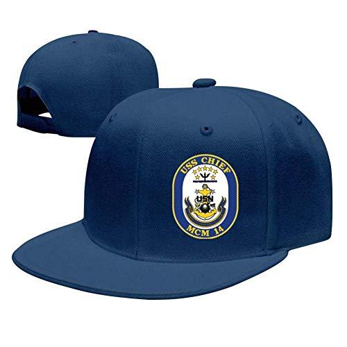 SuyuttiER USS Chief MCM-14 Baseball Cap Adjustable Trucker Hat Dad Hat Blue