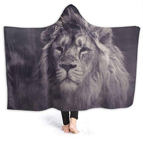 Shenguang Wearable Hoodie Decke Lion Sight Hooded Throw Wrap Cape Umhang Bademantel...